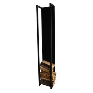 Haardhout standaard Firebox zwart metaal