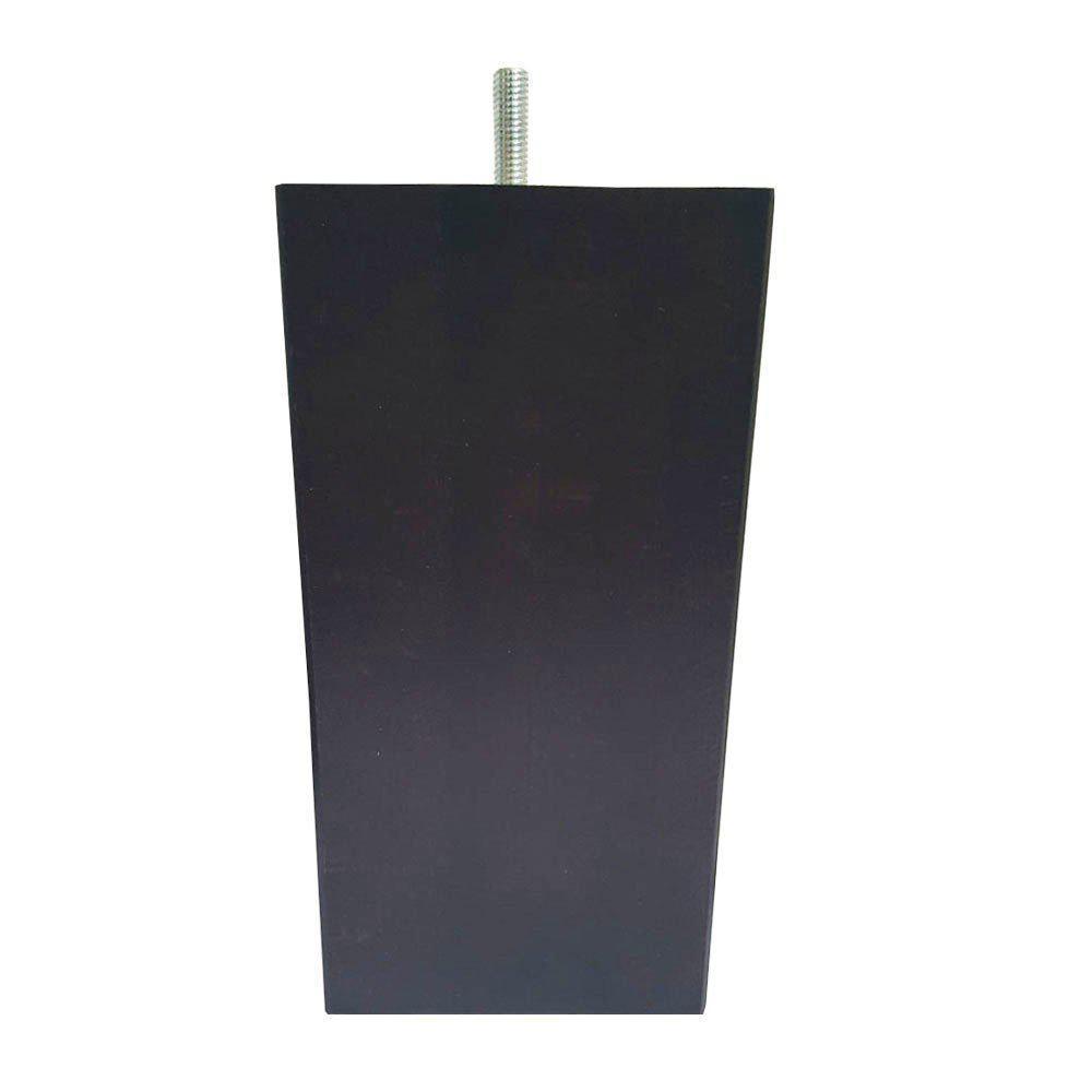 Donkerbruine vierkanten houten meubelpoot 18 cm M8 kopen