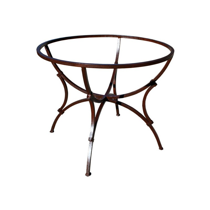 pied table fer forge rond sas fer carre