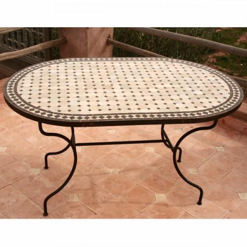 Table Zellige Mosaique Ceramique Marocaine Artisanale Carrelage Meubleethnic