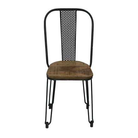 chaise industrielle metal et bois atelier