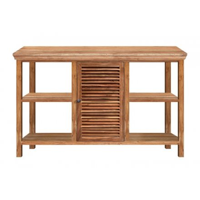 meuble double vasques bois massif naturel kerala