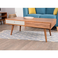 table basse scandinave 2 tiroirs gris vintage grey