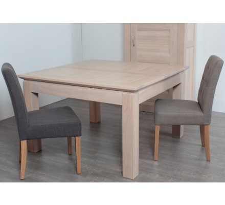 table carree allonge chene massif stockholm 140cm
