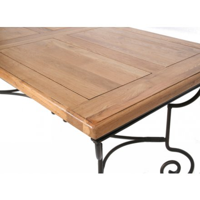 table rectangulaire batista fer forge bois 190cm