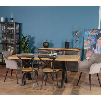 https www meuble house fr table de repas 220 cm bois pieds croix metal caractere html
