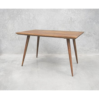 table scandinave pieds compas rectangulaire vintage grey