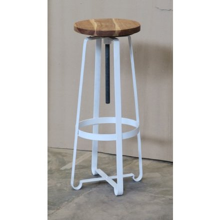 tabouret de bar en metal a vis blanc atelier grey