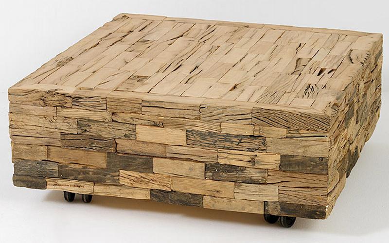 Carres De Bois Brut Pour Cette Table Basse
