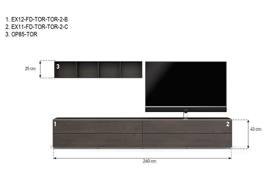 combinaison meuble tv paroi sonorous elements lowboard lc12
