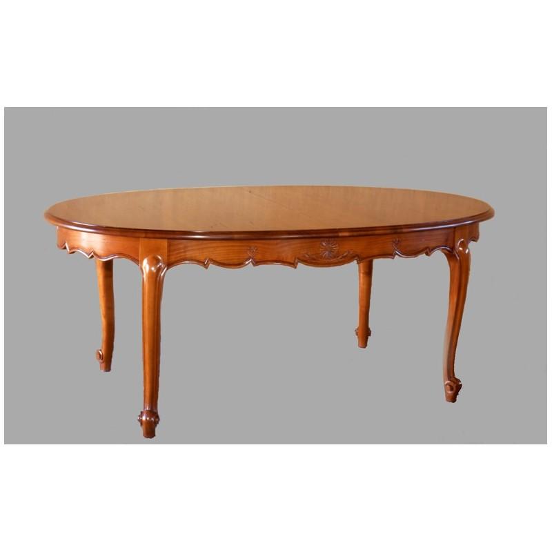 Table Ovale Marguerite En Merisier Meubles De Normandie