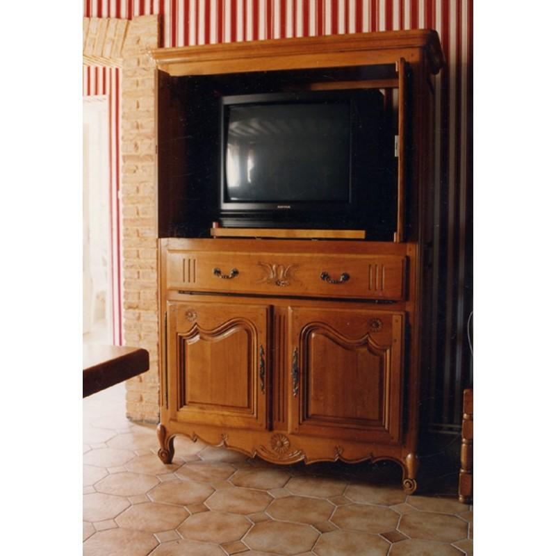 meuble tv 4 portes marguerite en chene