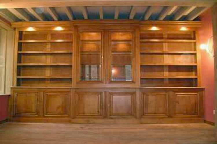Bibliothque Murale Sur Mesure 100 Chne Massif Meubles