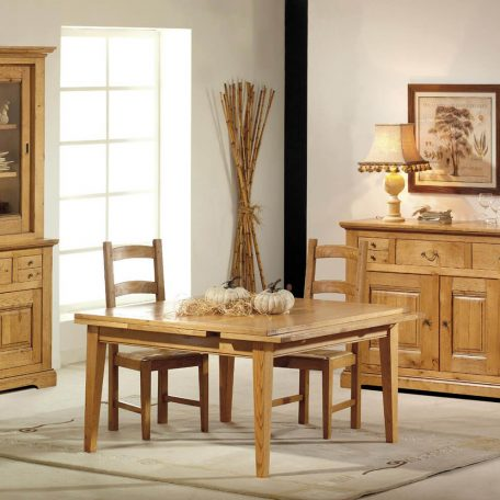 salle a manger rustique bois 100 chene massif honfleur meubles gibaud