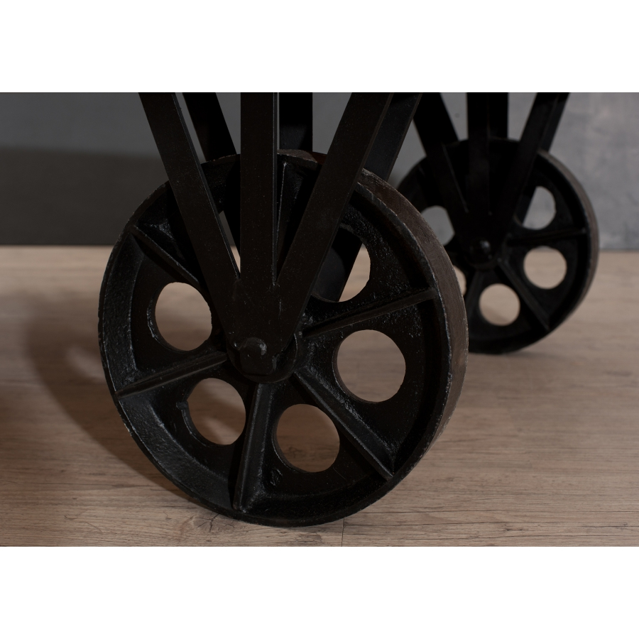 Table basse industrielle grosses roulettes  Meubles Macabane  meubles et objets de dcoration