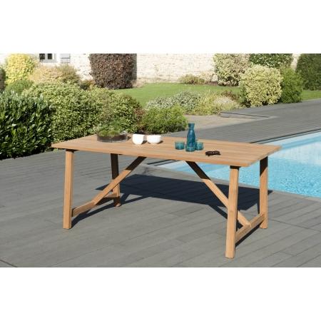table de jardin 8 pers soho 180 x 90 cms en bois teck