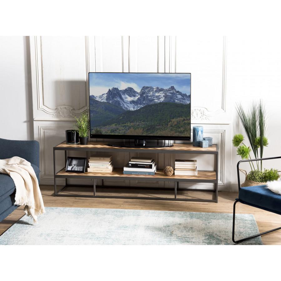 meuble tv 2 niveaux