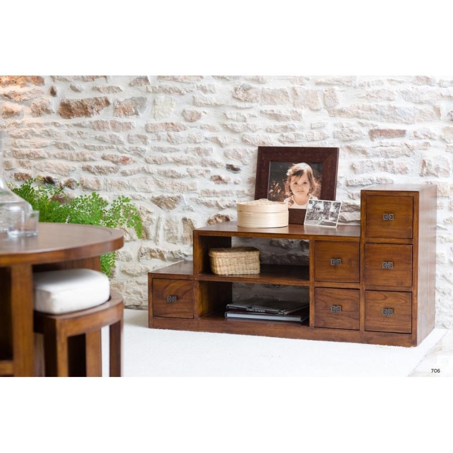 meuble tv escalier bois