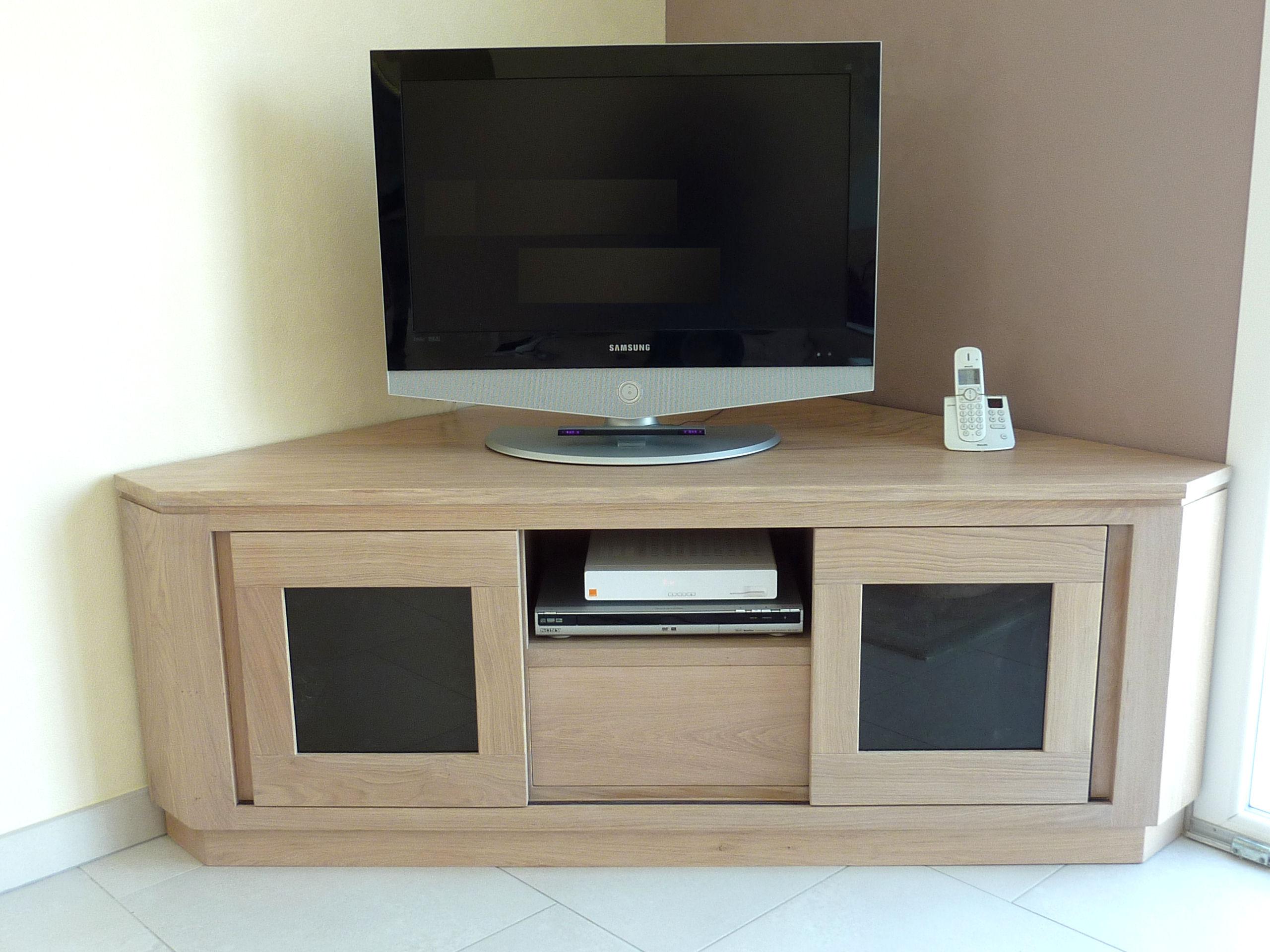 meuble tv hifi sur mesure en massif