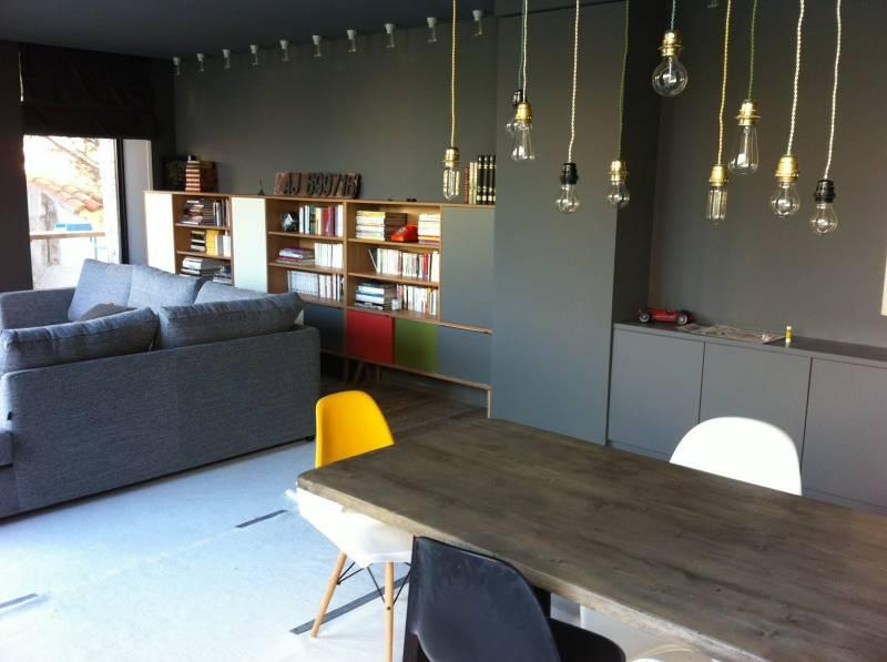 Bibliothque sur mesure en mlamin et bois massif chne  Meuble et dcoration Marseille