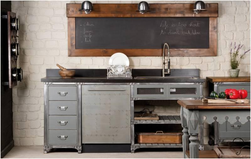 meubles industriels metal et bois a