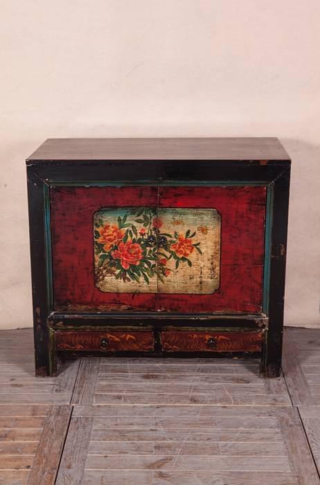 Meuble TV De Style Asiatique En Bois Ancien Meuble Et