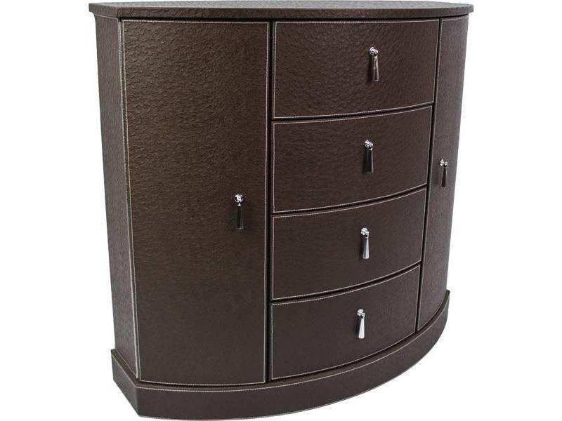 Petit meuble dappoint aspect cuir en demi lune  Meuble et dcoration Marseille  mobilier