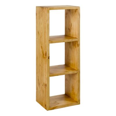 etagere cube 3 cases en pin massif