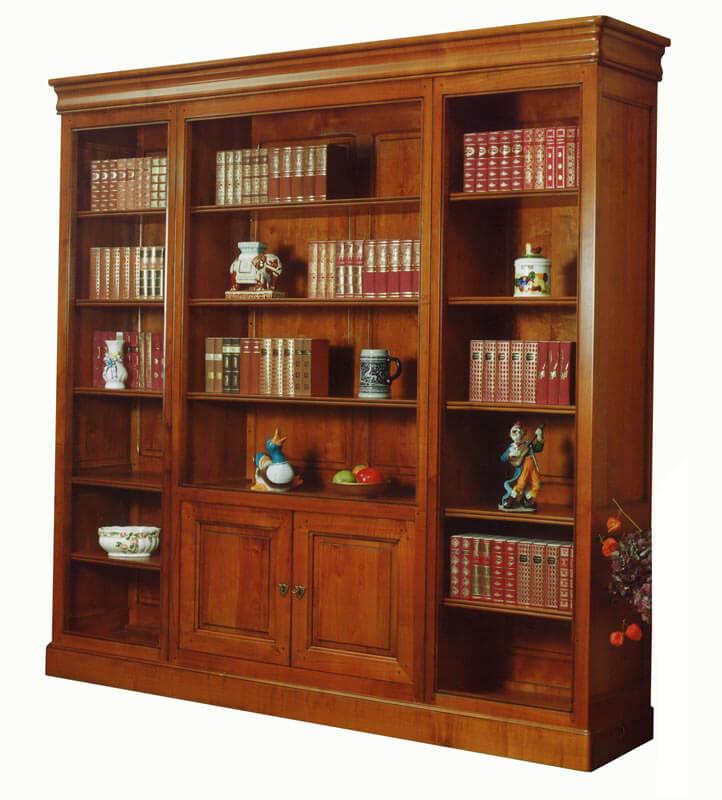 bibliotheque ouverte merisier decorateur