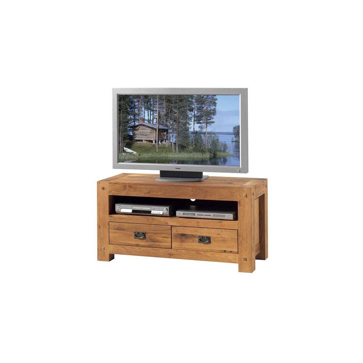 meuble tv 120 chene huile lodge