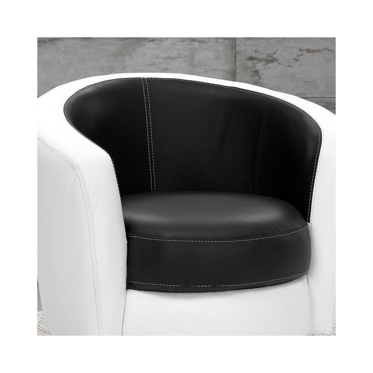 fauteuil cabriolet cuir pivotant candido