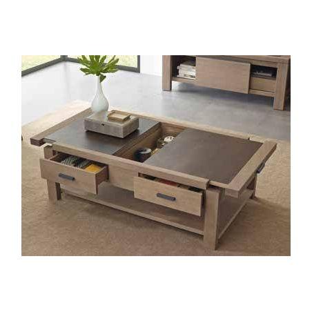 table basse coffre en pin d oregon et ceramique