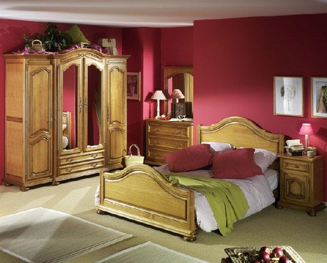 Chambres saint marcellin LIT RUSTIQUE saint marcellin par les Meubles Bodin literie tables en