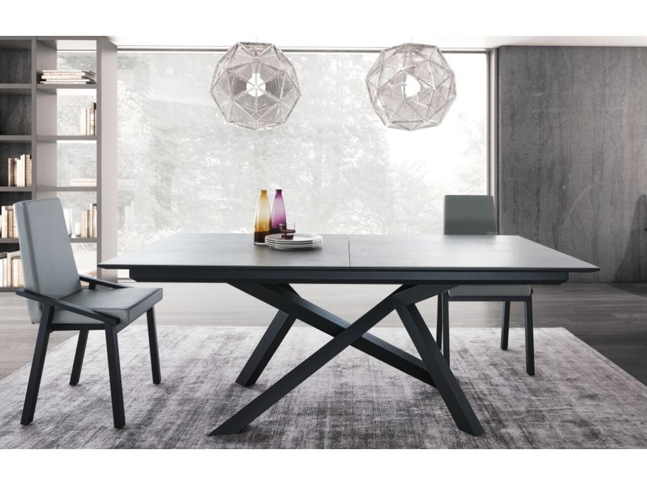 table extensible dessus ceramique a