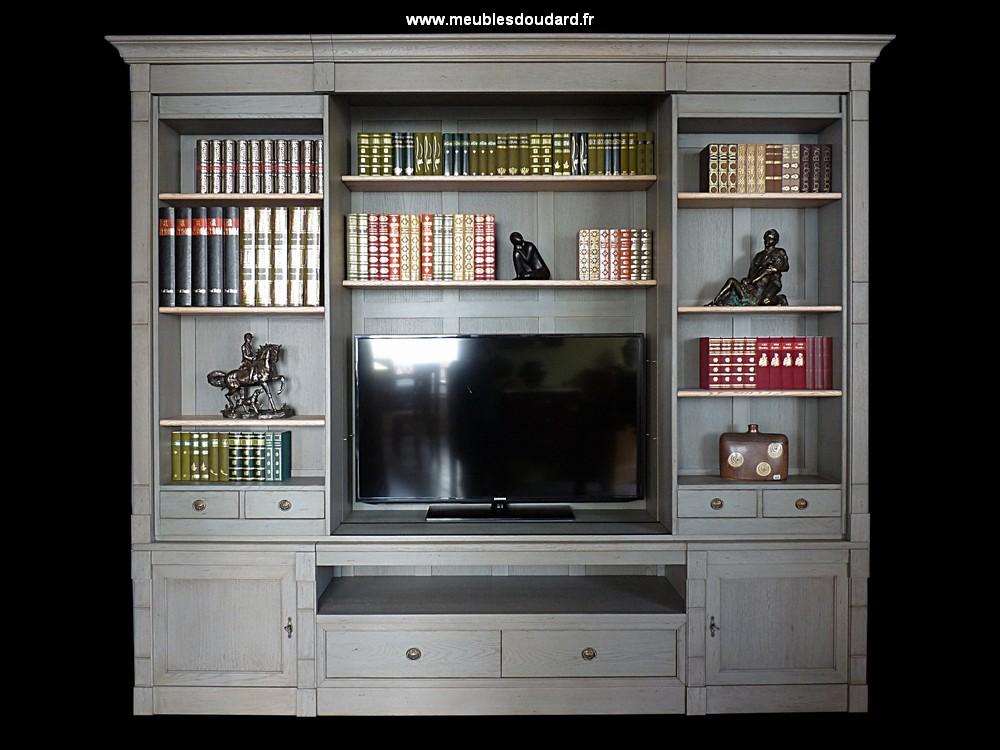 bibliotheque tv chene ref dh