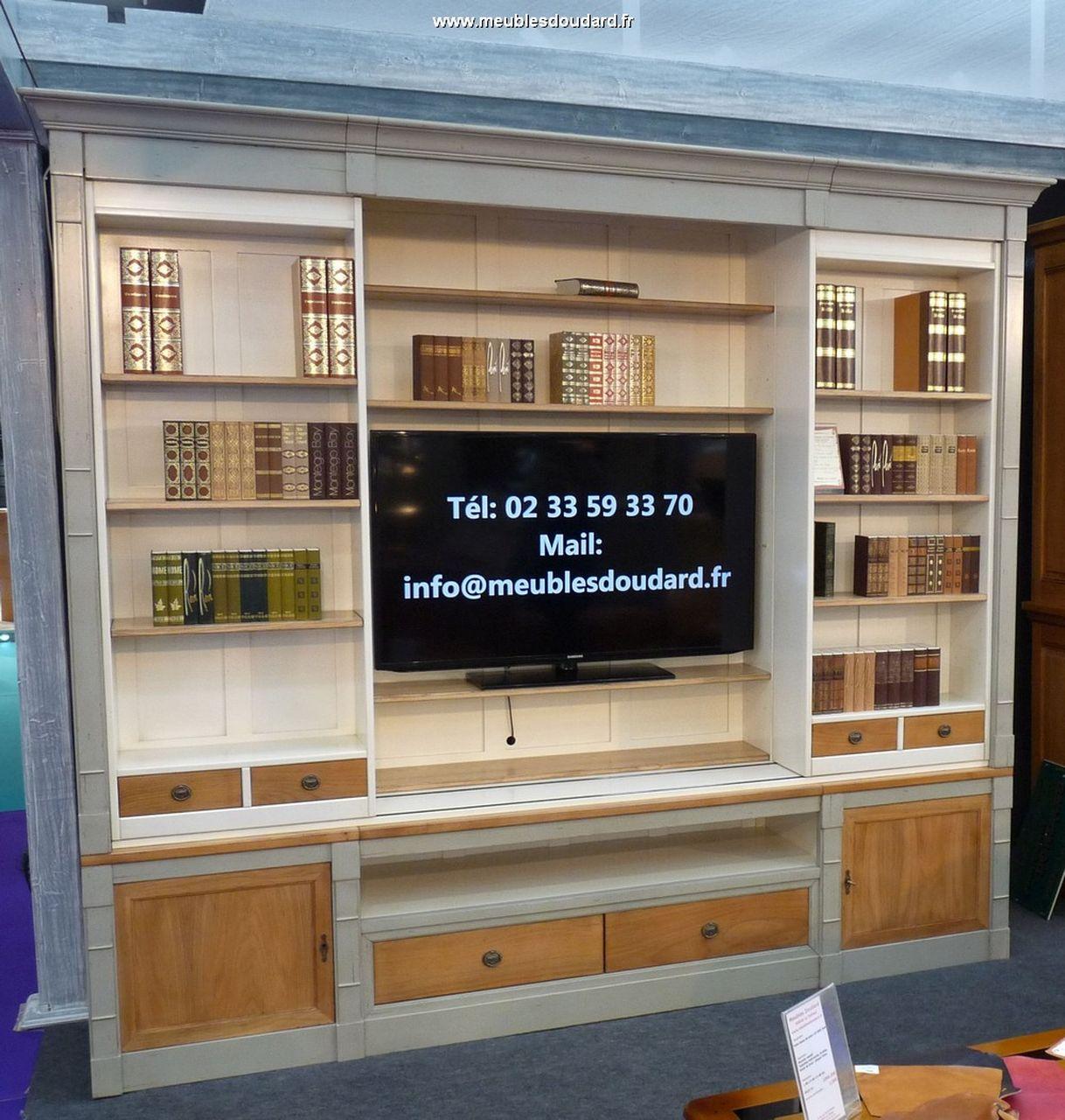 Bibliothque TV Merisier Bibliothque En Bois Massif
