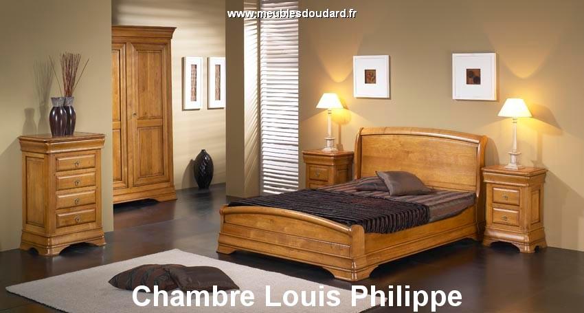 Chambre Louis Philippe en bois massif