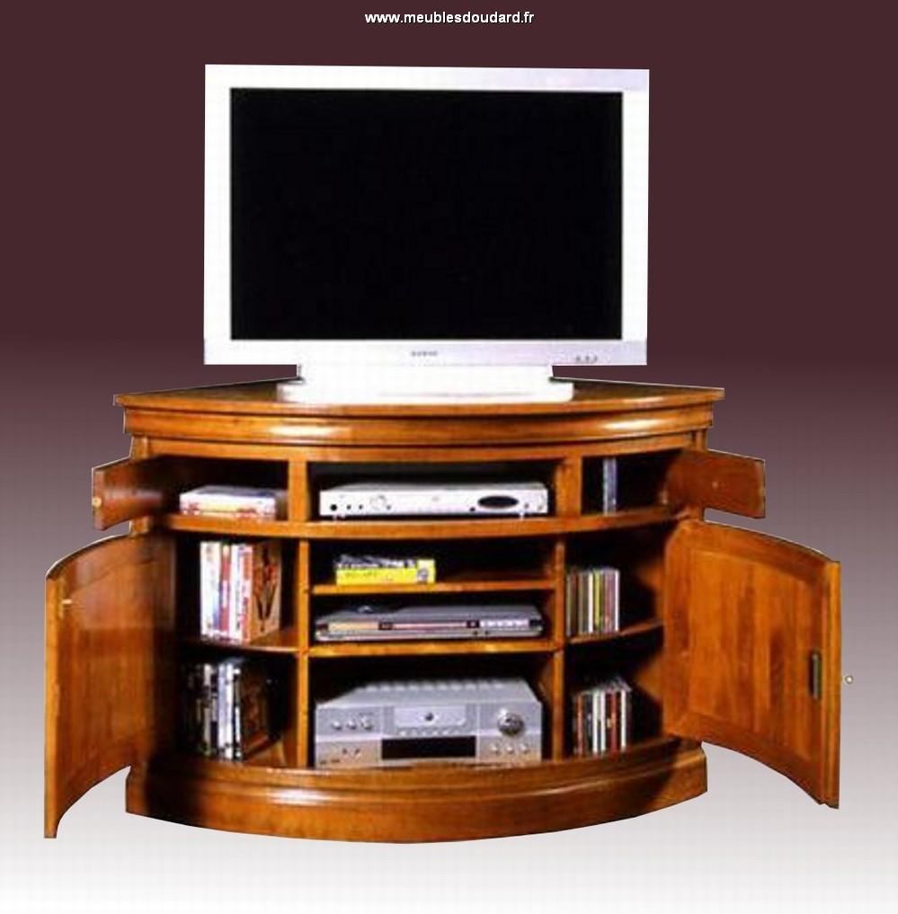 meuble tv d angle en merisier massif 1070