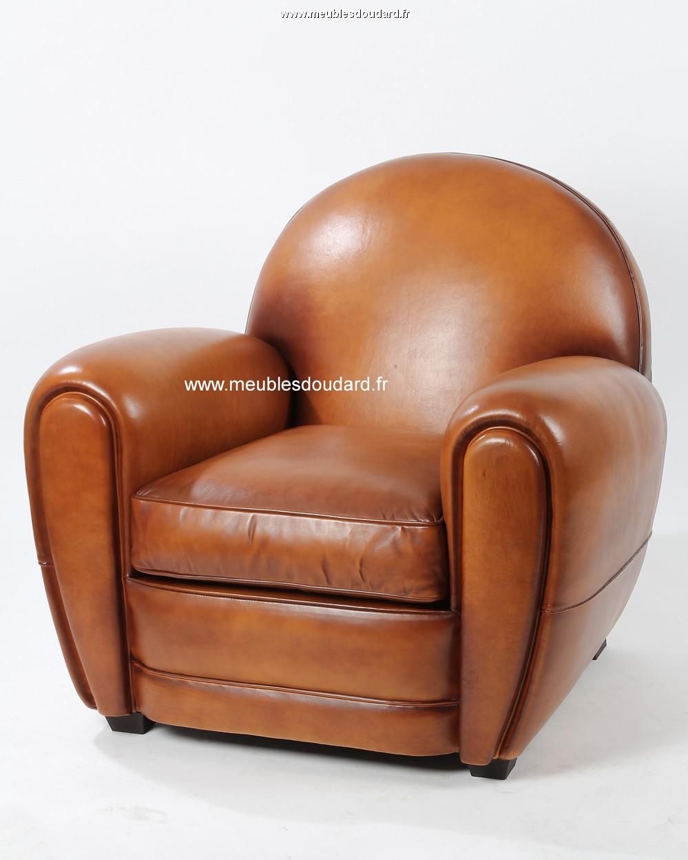 fauteuil club en cuir ref lille