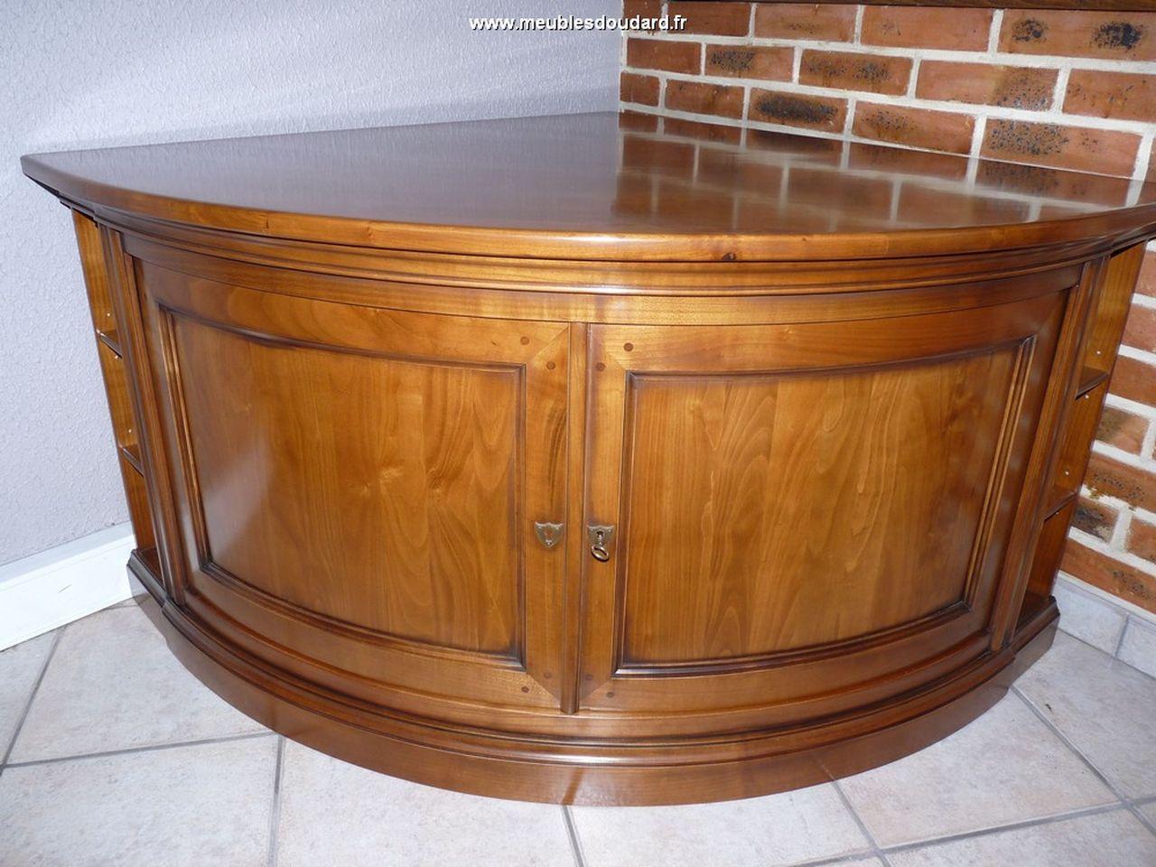 meuble tv d angle merisier ref 1081