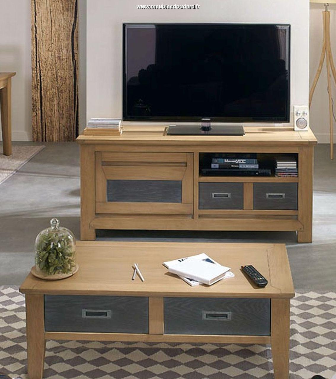 meuble tv moderne en chene charme