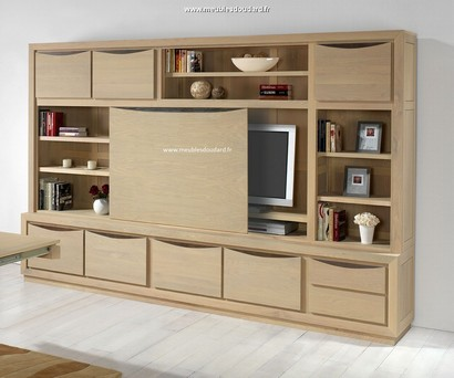 meubles bibliotheques en bois massif de