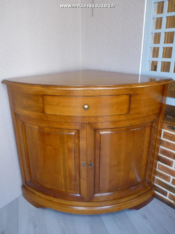 meuble d angle 2 portes merisier ref r 119