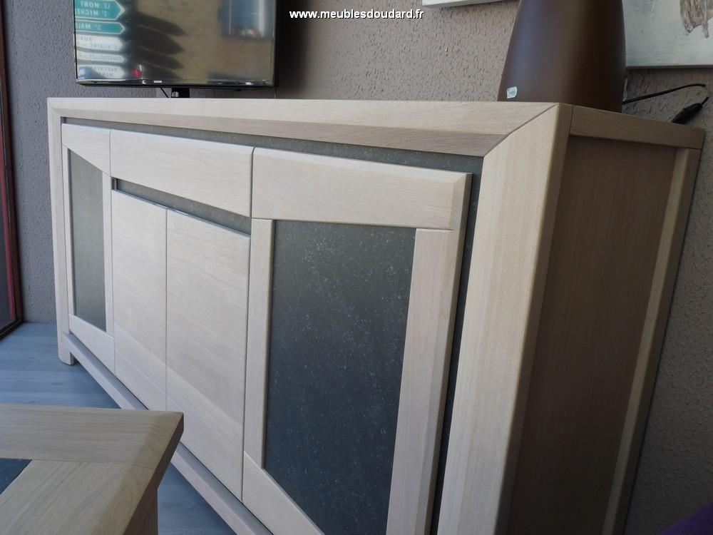 bahut 4 portes chene blanchi contemporain libellule