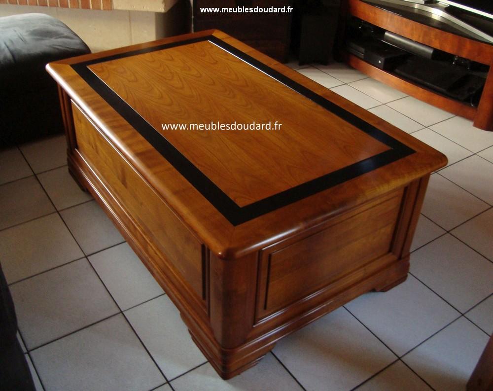 table de salon plateau relevable louis philippe
