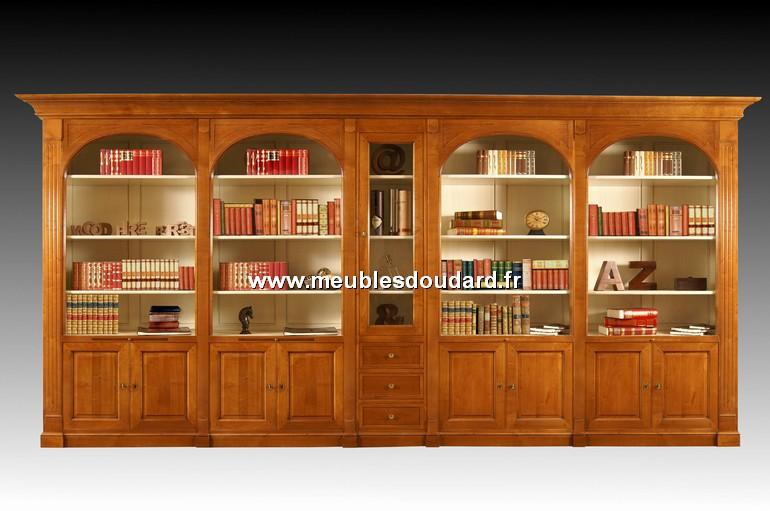 bibliotheque en bois massif sur mesure