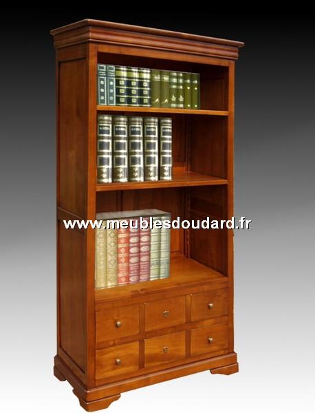 bibliotheque ouverte louis philippe en merisier ref l 40 dh