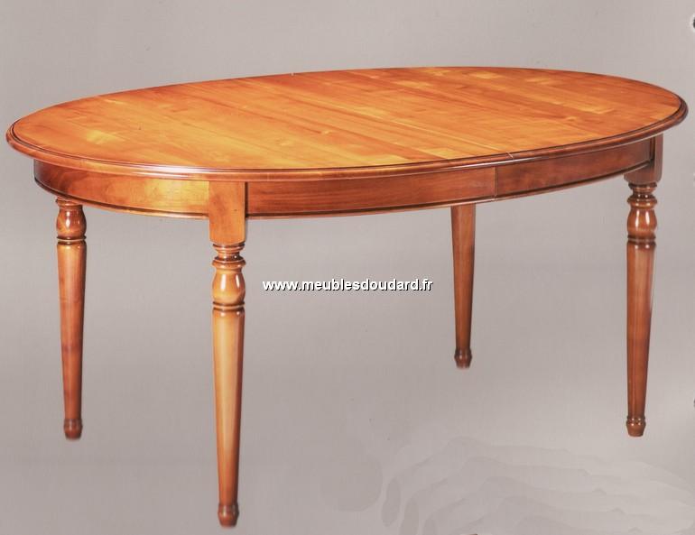 table ovale de salle a manger en merisier de style louis philippe