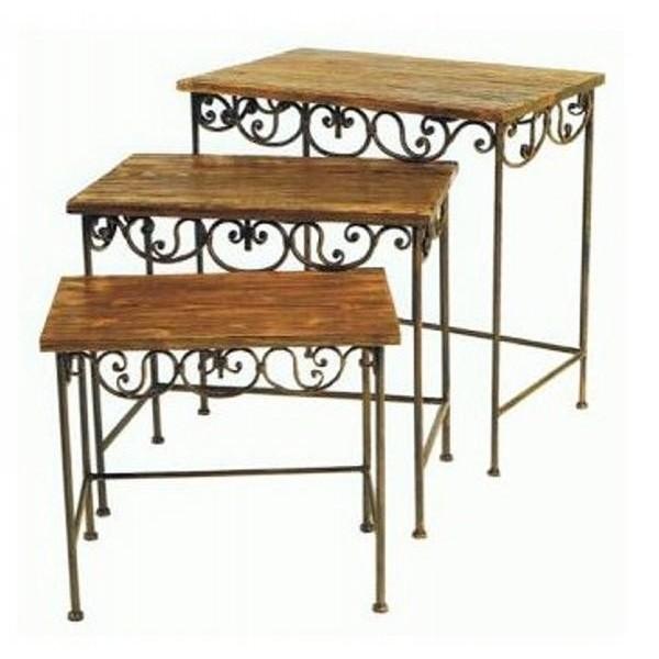Table De Salon Gigogne Table Basse Gigogne En M Tal Et