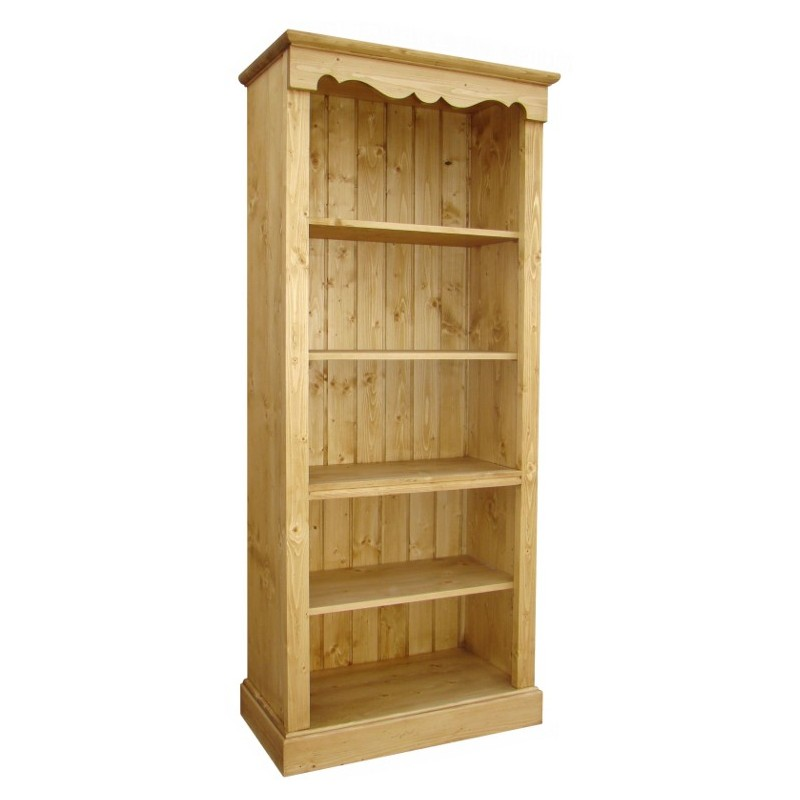 bibliotheque droite pin massif 4 etageres val d isere